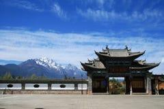 Montanha da neve de Yulong Imagem de Stock