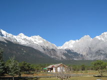 Montanha da neve de Yulong, China Foto de Stock