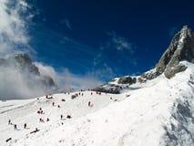 Montanha da neve do dragão do jade Imagens de Stock