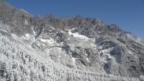 Montanha da neve, porcelana Foto de Stock