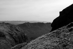Montanha da sela de BW Imagens de Stock