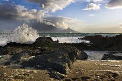 Montanha da tabela em Cape Town, África do Sul Foto de Stock
