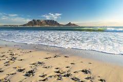 Montanha da tabela em Cape Town imagens de stock