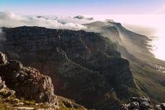 Montanha da tabela em Cape Town fotos de stock