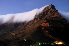 Montanha da tabela na noite Imagens de Stock