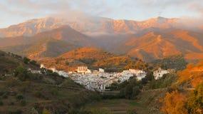 Montanha dada polimento belamente por um por do sol espanhol Fotografia de Stock Royalty Free