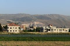 Montanha danificada por seres humanos em Líbano fotos de stock