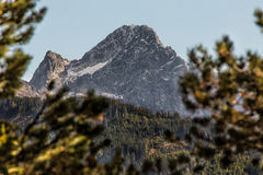 A montanha de Acherkogel nos cumes de Ã-tztaler Foto de Stock Royalty Free