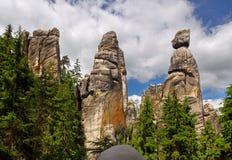 Montanha de Adrspach Fotos de Stock Royalty Free