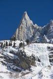 Montanha de Aiguille du Dru de Mont Blanc Massif fotografia de stock royalty free