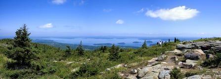 Montanha de Cadillac, Acadia do parque nacional, principal Imagens de Stock