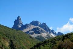 Montanha de Cerro Castillo, o Chile foto de stock