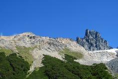 Montanha de Cerro Castillo, o Chile imagens de stock