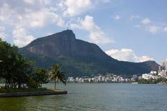 Montanha de Corcovado, Rio Fotografia de Stock