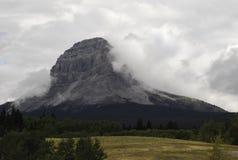 Montanha de Crowsnest Fotos de Stock Royalty Free