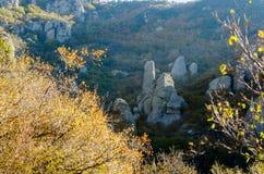 Montanha de Demerji em Crimeia perto de Alushta Fotos de Stock