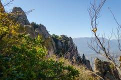 Montanha de Demerji em Crimeia perto de Alushta Foto de Stock