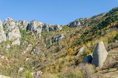 Montanha de Demerji em Crimeia perto de Alushta Fotos de Stock Royalty Free