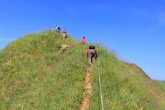 Montanha de escalada Foto de Stock