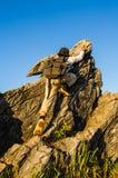 Montanha de escalada Imagem de Stock Royalty Free