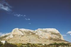 Montanha de Favignana Foto de Stock Royalty Free