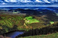 Montanha de Feldberg na mola Fotos de Stock Royalty Free