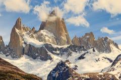 A montanha de Fitz Roy, montanhas ajardina, patagonia Fotografia de Stock Royalty Free