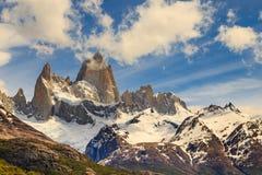 A montanha de Fitz Roy, montanhas ajardina, patagonia Imagem de Stock Royalty Free