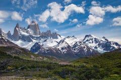 A montanha de Fitz Roy, montanhas ajardina, patagonia Foto de Stock