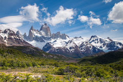 A montanha de Fitz Roy, montanhas ajardina, patagonia Imagens de Stock Royalty Free