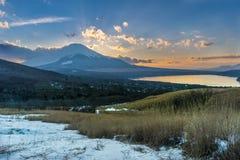 Montanha de Fuji no inverno Foto de Stock Royalty Free