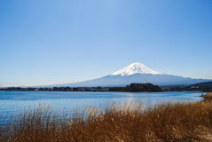 Montanha de Fuji no lago Kawaguchiko Fotografia de Stock