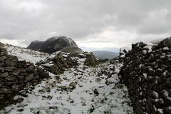 Montanha de Gazume no país Basque fotos de stock royalty free