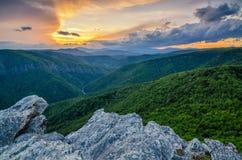 Montanha de Hawkesbill, North Carolina imagens de stock
