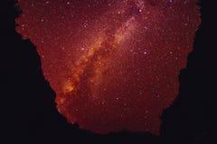 Montanha de Himalaya com estrela e Via Látea Imagem de Stock