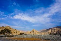 Montanha de Jebel Jais fotos de stock royalty free