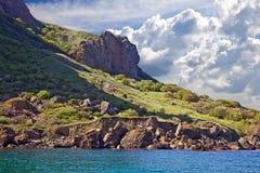 Montanha de Kara Dag Fotos de Stock Royalty Free