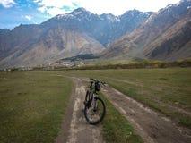 Montanha de Kazbek, Cáucaso, Geórgia, Europa fotografia de stock