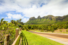Montanha de King Kong do kalalea do kawaii de Havaí dentro da ilha fotografia de stock