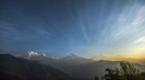 Montanha de Machapuchare Imagens de Stock
