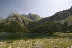 Montanha de Maglic e lago Trnovacko Fotos de Stock Royalty Free