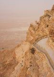 Montanha de Masada no embaçamento Imagem de Stock Royalty Free