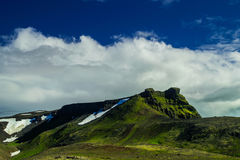 Montanha de Midfell no parque nacional de Snaefellsjokull Fotografia de Stock Royalty Free