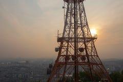Montanha de Namsan em Seoul, Coreia foto de stock