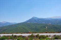 Montanha de Nif, lugar do karabel, fethiye, mugla, peru imagens de stock