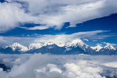 Montanha de Niubei e Minya Konka, Sichuan de China Fotografia de Stock Royalty Free