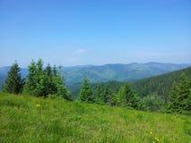 Montanha de Parashka, montanhas Carpathians Foto de Stock Royalty Free