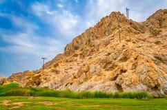 Montanha de pedra amarela Fotografia de Stock Royalty Free