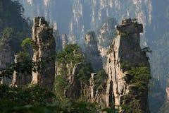 Montanha de pedra no porvince de hunan da porcelana Fotografia de Stock Royalty Free