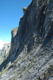 Montanha de pedra no vale Grindelwald próximo em Suíça Fotografia de Stock Royalty Free